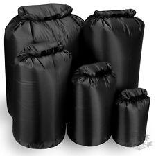 WATERPROOF DRY BAG SACK COMPRESSION ROLL TOP CANOE KAYAK BLACK MILITARY CAMPING