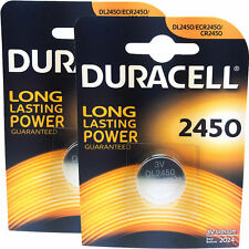 2 x Duracell 2450 3V Lithium Coin Cell Battery - CR2450 - DL2450 - 2 Packs