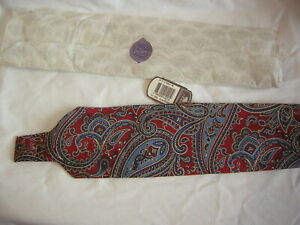 MENS TIE RACK PAISLEY TIE 9 CM WIDE 100% SILK BRAND NEW WITH TAGS