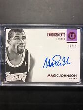 2017-18 Panini Encased Red Autographed Magic Johnson #12/15