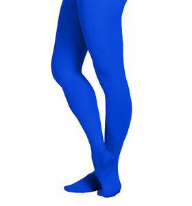 EMEM Apparel Women's Solid Colored Opaque Microfiber Footed Dance Ballet Tights