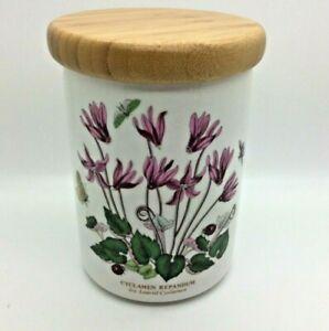 Portmeirion Botanic Garden 'Ivy Leaved Cyclamen' Storage Jar with Wooden Lid