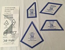 EZ QUILTING..Set of 4 Contemporary Charm Quilt Templates Acrylic W/ Instructions