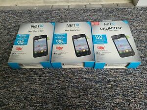 3 X NET 10 WIRELESS LG optimus FUEL phone NEW SEALED Read