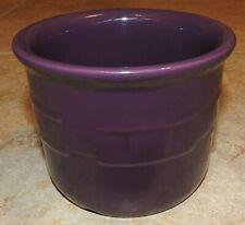 Authentic Longaberger Pottery Flower Pot Brilliant Purple Excellent condition