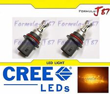 CREE LED 30W 9007 HB5 ORANGE AMBER TWO BULB HEAD LIGHT REPLACEMENT SINGLE BEAM