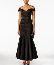 Xscape Off-The-Shoulder Ruched Mermaid Gown Size 16# B240  MSRP $169.00