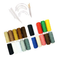 34Pcs Sewing Thread Spools Hand Curved Needles for Tailor Dressmaking