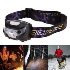 LED Motion Sensor Headlamp 8W Headlight USB Rechargeable Head Flashlight