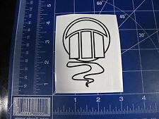 vtg Z Flex skateboard sticker Zephyr Jellyfish resto deck black