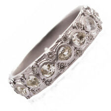 Armenta Lacy Eternity Stackable Silver Ring Band Sapphires & Diamonds New 08733