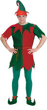 Elf Adult Mens Costume Plus Size NEW Christmas Tunic Hat Shoes
