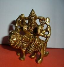 Rare Brass Durga Ma Handmade Statue Navratri Puja Hindu Goddess Religious DIWALI