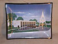 Vintage 1964-65 New York World's Fair Masonic Brotherhood Glass Tray Masons