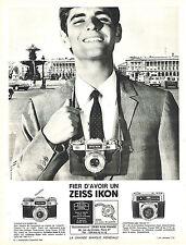 PUBLICITE ADVERTISING 015  1966  ZEISS IKON  appareil photo CONTAFLEX SUPER BC