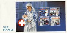 (45386) GB FDC Alderney FDC Healthcare / Community Booklet Pane - 26 April 2001