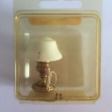1/12 Vintage Dollhouse FurnitureTable Desk Lamp Brass Electrified Lighting