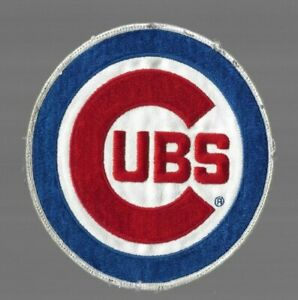 """Vintage 1970's CHICAGO CUBS Jersey Patch 6"""" Large"""