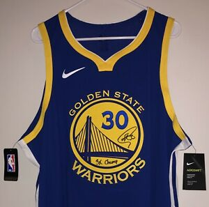 Stephen Curry Signed Warriors NBA Authentic Auto Nike Aeroswift Jersey USASM BAS