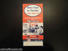 "Vintage New York to Florida ""Upside-Down"" map"