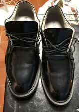 NWOT Bates Black Army Patent Leather Dress Military Oxford Shoe 10D Vibram Sole
