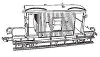 Dapol C38. Brake Van - Plastic Kit (00) Railway Model