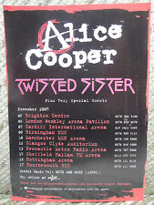 ALICE COOPER / TWISTED SISTER - UK TOUR FLYER / POSTER 2005