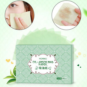 100pcs Facial Oil Control Papers Wipes Sheets Absorbing Face Blotting Clean IOYC