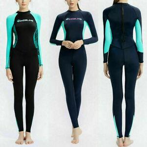 Women Quick Dry Full Body Wetsuit Swim Surf Wet Suit Diving Swimwear Suit Wetsui