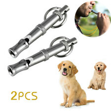2Pcs Pet Dog Whistle Puppy Whistle Supplies Adjustable Pitch