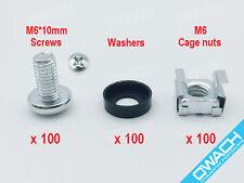 100 pack- M6 Cage nuts & Screws for server rack shelf cabinet, High Quality
