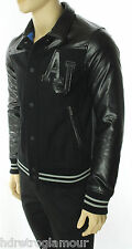 NEW MENS ARMANI JEANS BLOUSON WOOL BLEND MIXED MEDIA JACKET M (50) $435