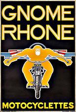 Gnome Rhone Motorbike Motorcycles Art Poster Print