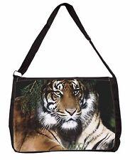 Bengal Tiger in Sunshade Large Black Laptop Shoulder Bag Christmas Gift, AT-10SB