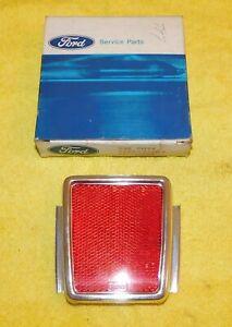 1968 Ford Fairlane Torino NOS 66 - PENNSYLVANIA  ONLY - RED REAR REFLECTOR ASSEM