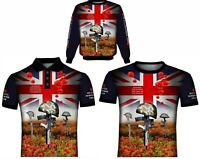 Poppy Remembrance Day Military British Army Never Forget POLO SHIRT