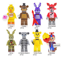 8 PCS Minifigures lego moc Action Figure Five Nights at Freddy's Toys Golden Fre