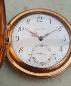 Alte Sprungdeckel Taschenuhr Drusus vergoldet für Bastler