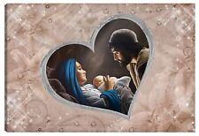 Quadro moderno 100x60 sacra famiglia madonna gesù nascita capezzale capoletto
