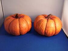 Pumpkins 6 Inch Set of 2 Resin 5