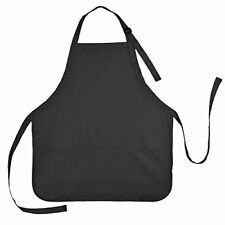 Black Apron With 3 Pockets For Women Men Work Kitchen Chef Cooking Adjustable