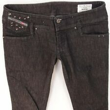 damen diesel matic stretch skinny schwarz grau jeans w28 l30 uk größe 8