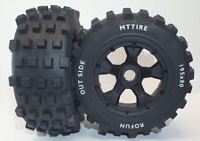 Baja 5T SC Wheel & Knobby Tyre Set Rear fit Rovan 5T SC KM LT Losi