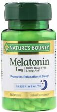 SPECIAL! Nature's Bounty 1mg 180 Tablets Calm Sleep Fall Asleep Faster & Longer