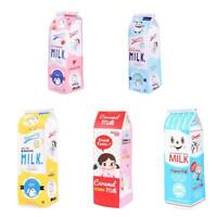 Cute Creative PU Simulation Cartoon Milk Box Pencil Pouch Pen Bag Stationery