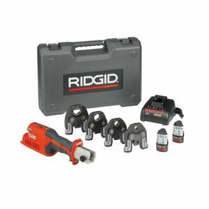 "Ridgid 57363 RP 241 Compact Press Tool Kit with 1/2""-1-1/4"" ProPress Jaws"