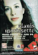 Publicité Advertising 1999 Concert Alanis Morissette Paris Zenith Radio NRJ