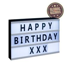 A4 DEL cinématographiques Light Up Box Display Sign with 71 Letters symbole Message Board