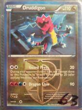Druddigon 94/135 B&W Plasma Storm set ~ RARE HOLO SHINY POKEMON CARD EXCELLENT