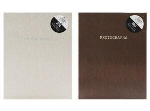 "6"" x 4""- 200 Pockets Slip-in Snake Skin Print Design Photo Album - Brown + Cream"